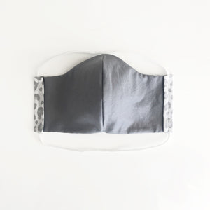 cloth face mask - tiger lite - white and gray - reversible