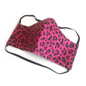 cloth face mask - tiger lite - pink animal print face mask