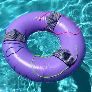 cloth face mask - ahoy buoy - on inner tubes