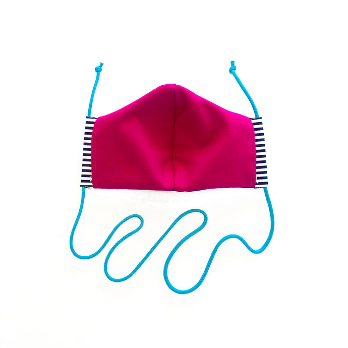 cloth face mask - ahoy buoy - pink