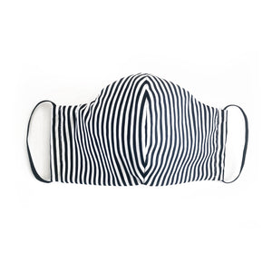 cloth face mask - black and white - ear loops