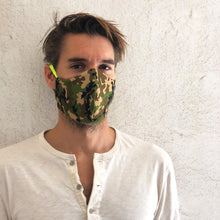 Load image into Gallery viewer, camo cloth face mask - front