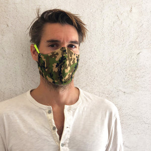 camo cloth face mask - front