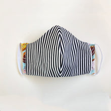 Load image into Gallery viewer, Reverse detail of Donut Go Out! reusable, reversible and washable face mask. Features integrated filter pocket. Made from three layers of 100% cotton. Designed and manufactured by Mr. Pink's based in California. Made in USA.