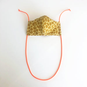 giraffe print cloth face mask - adult