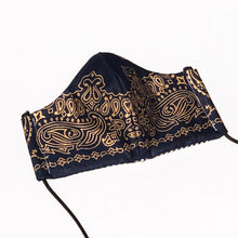 Load image into Gallery viewer, INLAW Cloth Face Mask w/ Filter Pocket - Mr. Pink's Shop - Black & Gold