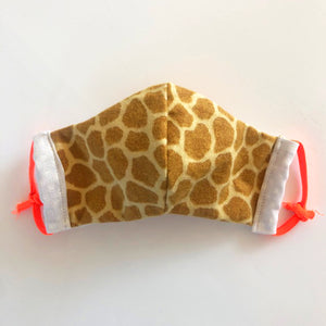 Kids cloth face mask - giraffe print