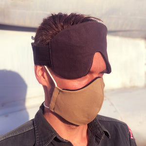 eye mask for flying and sleeping - elevated