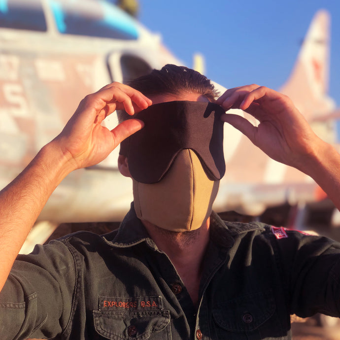 eye mask for flying and sleeping - front