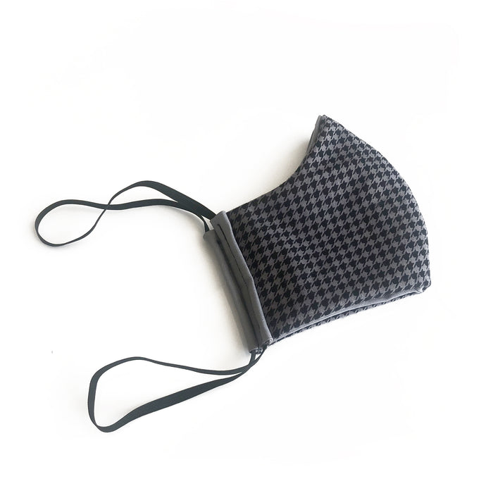 cloth face mask - risky business - gray and black