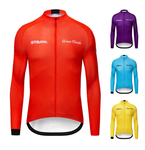 Strava Long Sleeve Cycling Jerseys