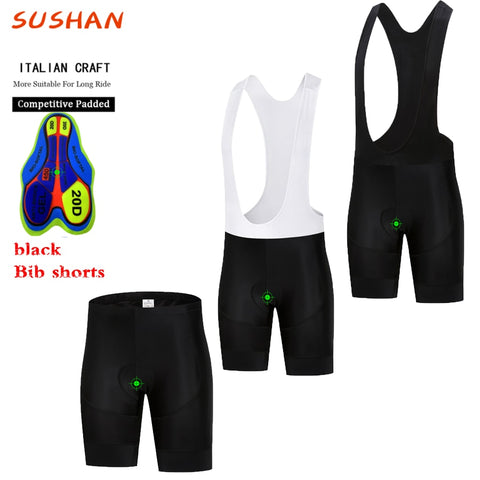 2019 SUSHAN Women's Ultra Padded Cycling Bib or Shorts