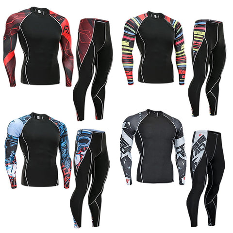 Men's Pro Athlete Compression Running Kits