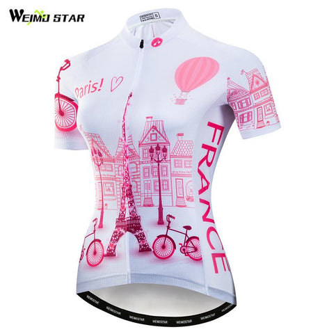 Weimostar Women's Team France Cycling Jersey