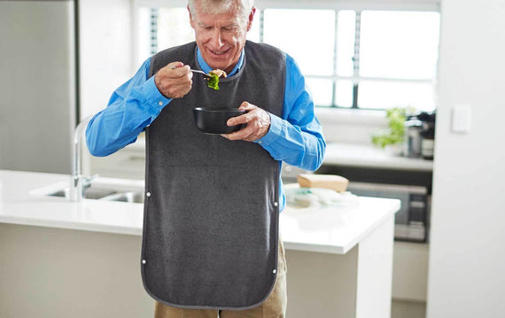 Washable Tray Feeding Bib for Adults