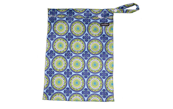 Snazzipants Waterproof Wet Bag Blue Circle