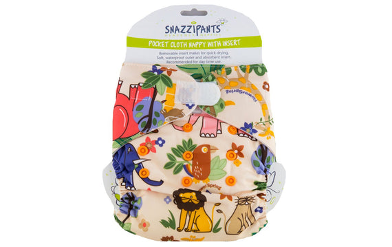 Snazzipants Cloth Pocket Nappy Jungle Front