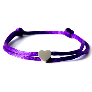 Neon Purple x Heart White Gold