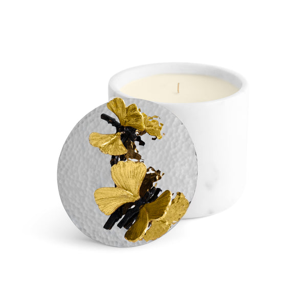 Butterfly Ginkgo Small Marble Candle
