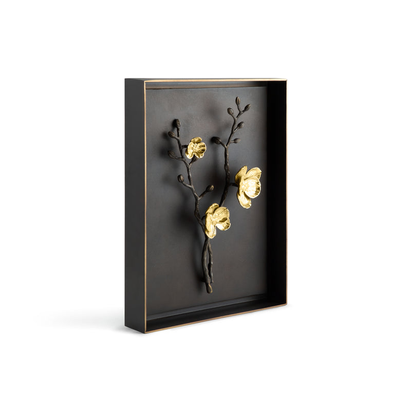 Gold Orchid Shadow Box