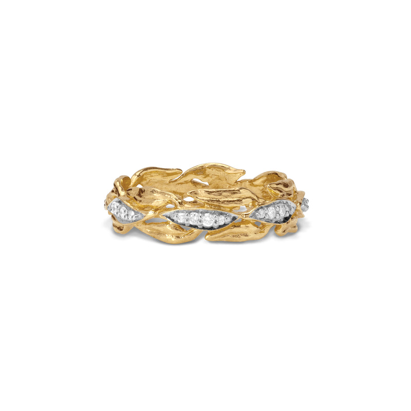 Laurel Ring with Diamonds
