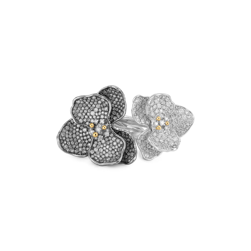 Orchid Double Ring with Diamonds