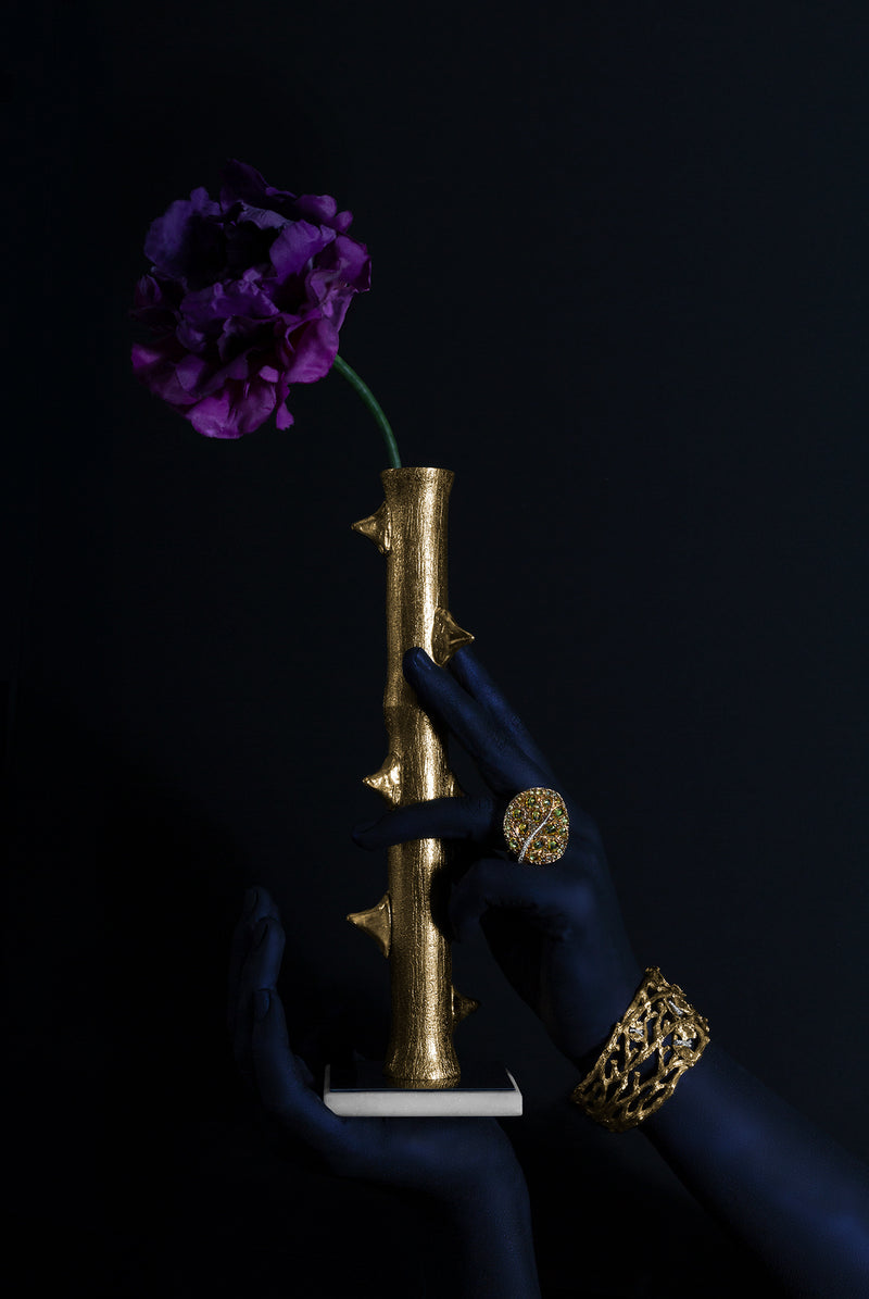 Thorn Gold Bud Vase