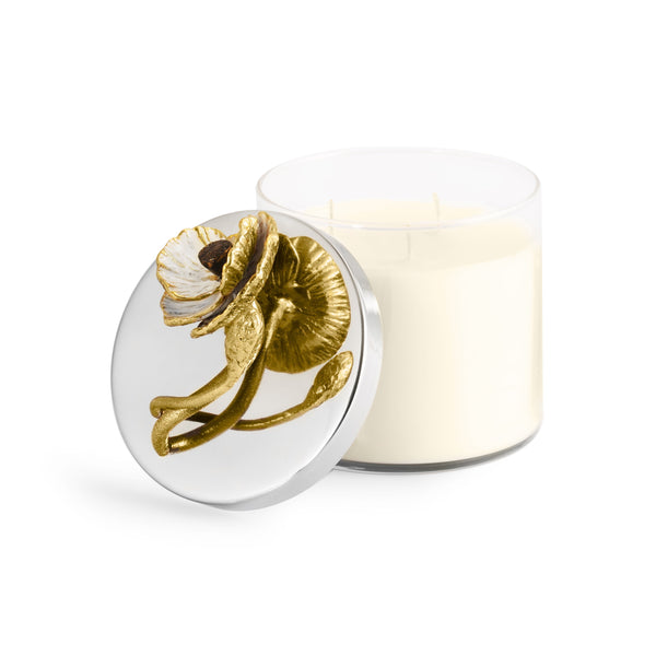 Michael Aram Anemone Decorative Scented Candle with lid off