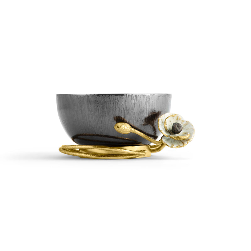 Michael Aram Anemone Nut Dish Profile View