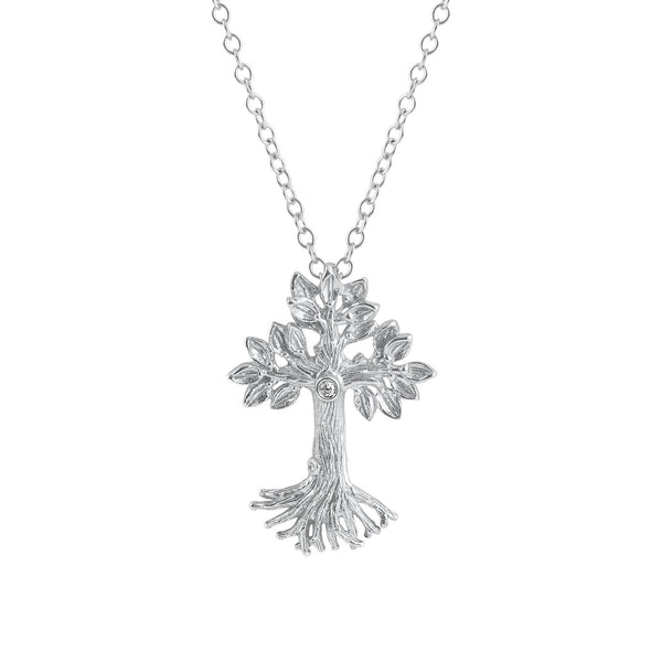 Michael Aram Armenian Tree of Life 25mm Cross Pendant Necklace with Diamonds