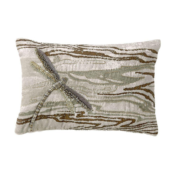 Michael Aram Bittersweet Dragonfly Decorative Pillow - Champagne