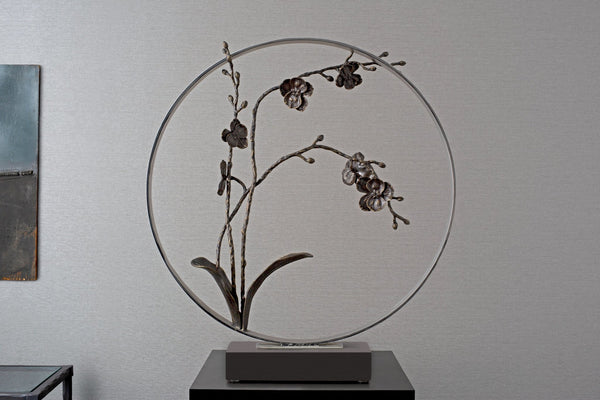 "Michael Aram Black Orchid 22"" Moon Gate Sculpture"