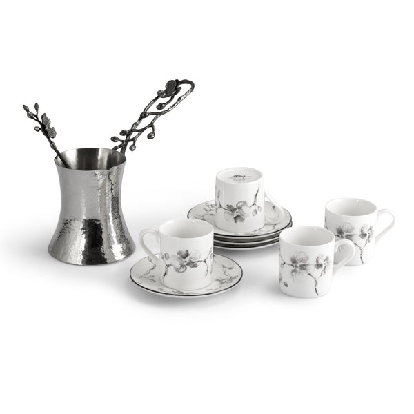 Michael Aram Black Orchid Coffee Pot & Demitasse Set