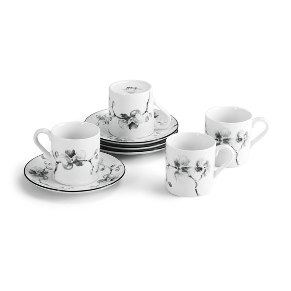 Michael Aram Black Orchid Demitasse Set