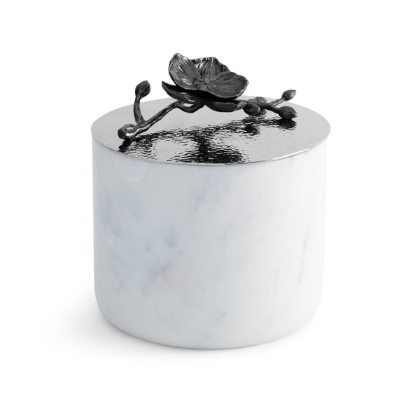 Michael Aram Black Orchid Large Marble Candle
