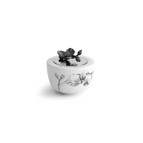 Michael Aram Black Orchid Porcelain Sugar Pot