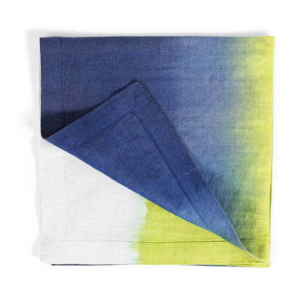 Michael Aram Blue/Green Dip Dye Dinner Napkin