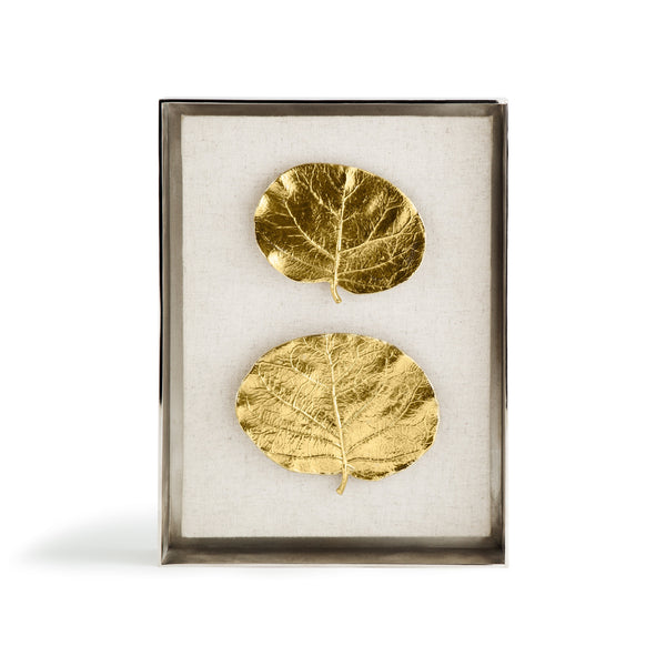 Michael Aram Botanical Leaf Fabric Shadow Box