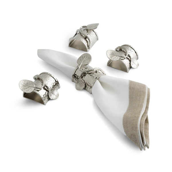 Michael Aram Botanical Leaf Napkin Ring Set