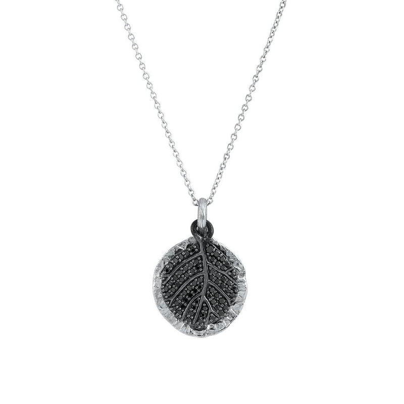 Michael Aram Botanical Leaf Pendant Necklace with Diamonds
