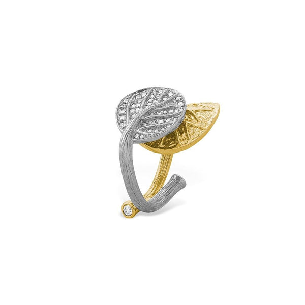 Michael Aram Botanical Leaf Ring with Diamonds
