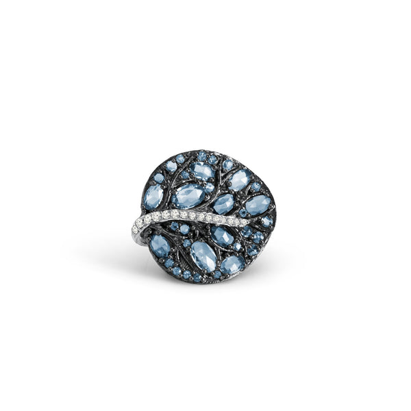 Michael Aram Botanical Leaf with Blue Topaz & Diamonds
