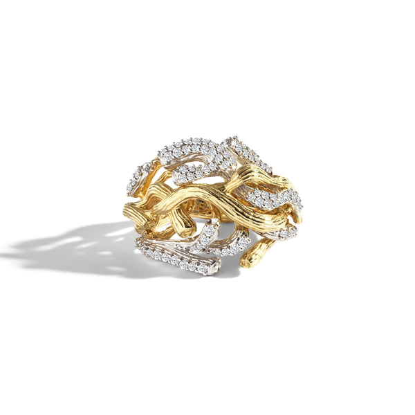 Michael Aram Branch Coral Ring with Diamonds