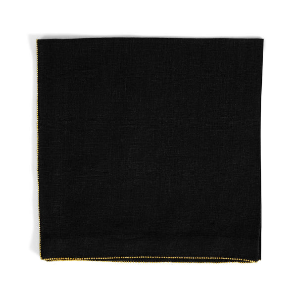 Michael Aram Brass Beaded Dinner Napkin Charcoal