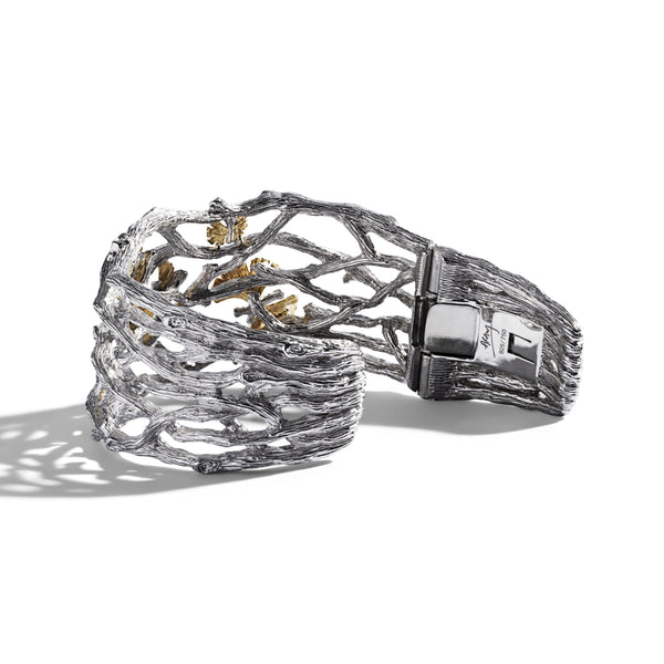 Michael Aram Butterfly Gingko Cuff Bracelet with Diamonds