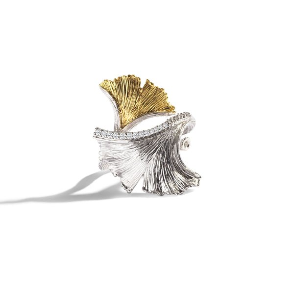 Michael Aram Butterfly Gingko Ring with Diamonds