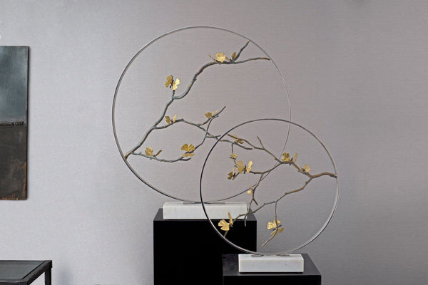 "Michael Aram Butterfly Ginkgo 22"" Moon Gate Sculpture"