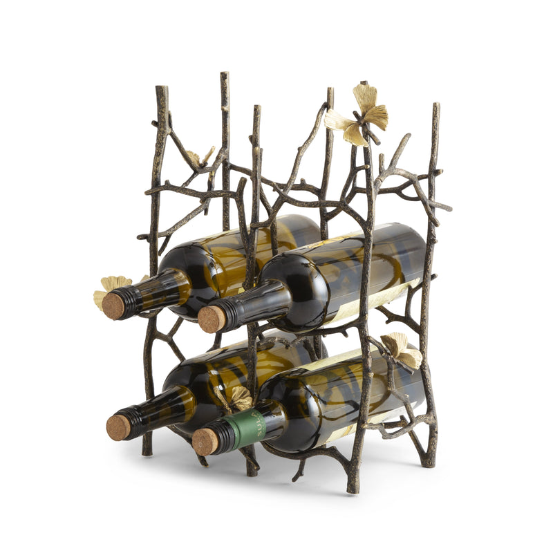 Michael Aram Butterfly Ginkgo 6-Bottle Wine Rack