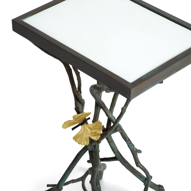 Michael Aram Butterfly Ginkgo Accent Table