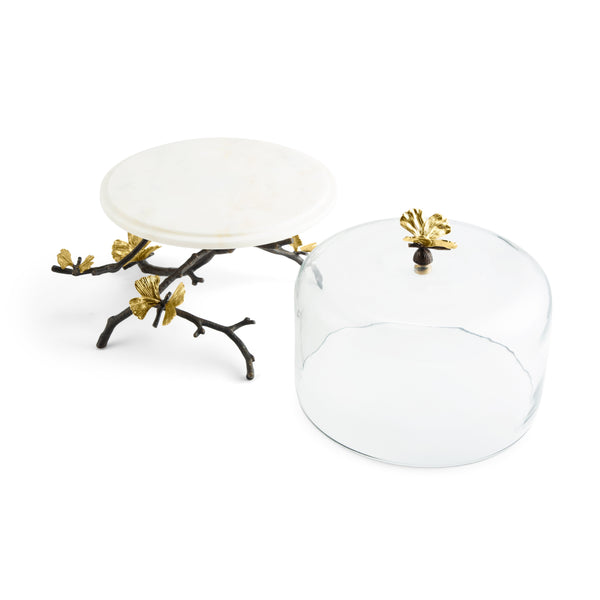 Michael Aram Butterfly Ginkgo Cake Stand w/ Dome